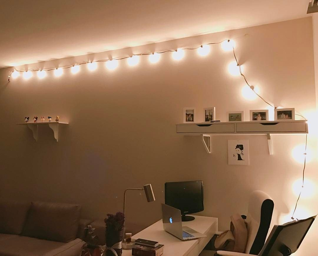 string light diy ideas cool home. 45 Awesome DIY Ideas With String Lights For A Cozy Home Light Diy Cool M