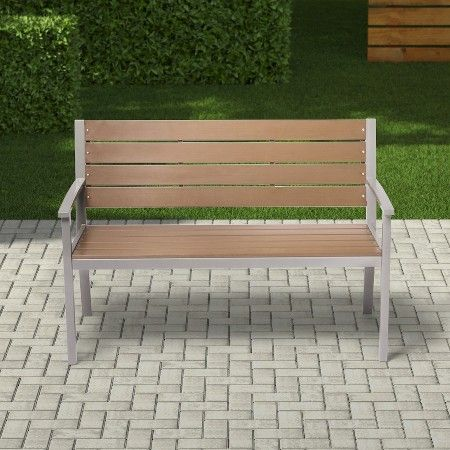Bryant Faux Wood Patio Bench Threshold Target Wood Patio Patio Bench Patio