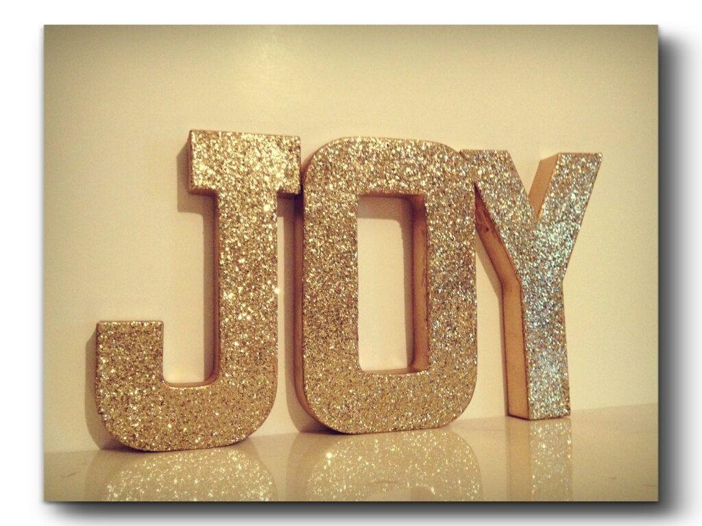 Diy Glitter Block Letters