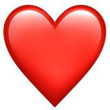 Red Heart On Apple Ios 10 3 Emoji Love Heart Emoji Apple Emojis
