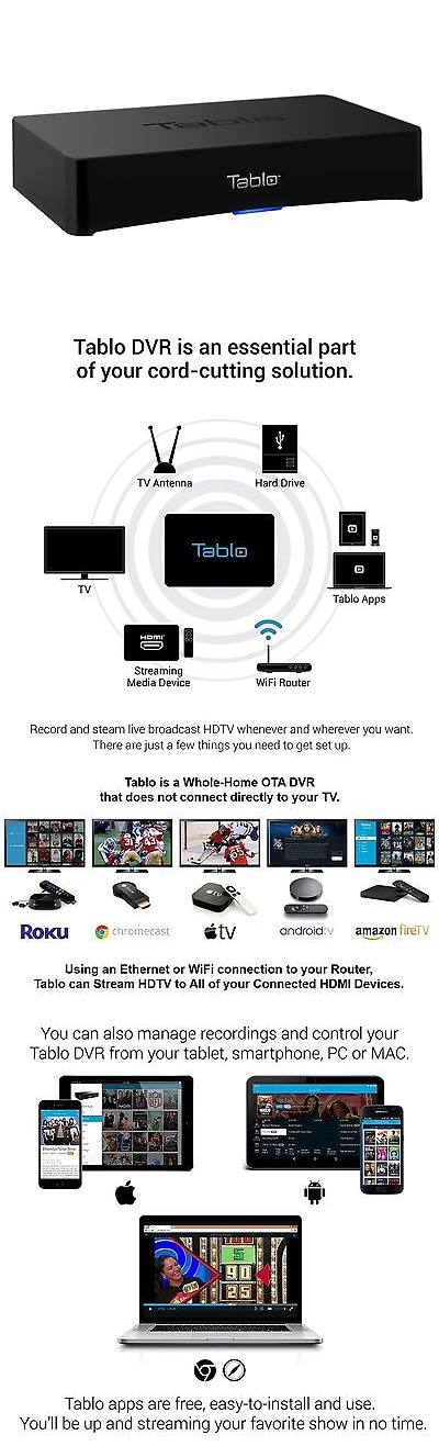 DVRs Hard Drive Recorders: Tablo 2-Tuner Dvr For Over-The-Air Hdtv With Wi-Fi -> BUY IT NOW ONLY: $223.67 on eBay!