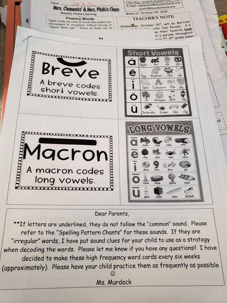 Breve and Macron, Saxon Phonics Saxon phonics, Phonics