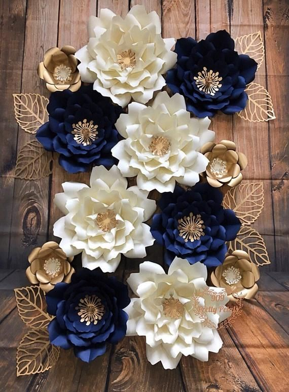 Items similar to Paper Flowers Set of 12 Paper Flower Backdrop on Etsy