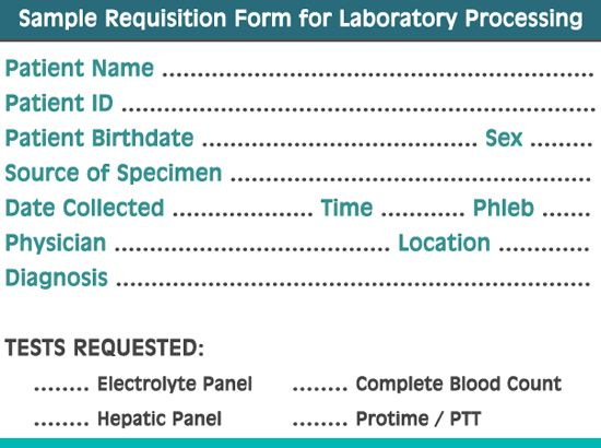 a sample requisition form