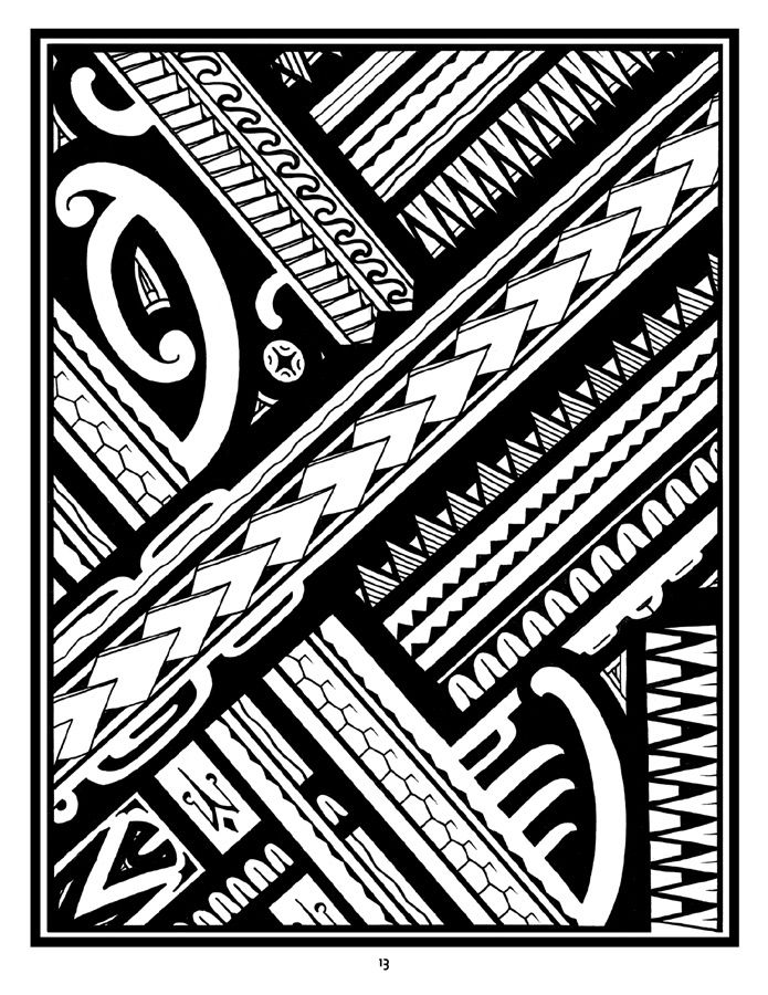 6f5a27517 Tattoo: A Coloring Book of Polynesian Art by Anthony J. Tenorio ...