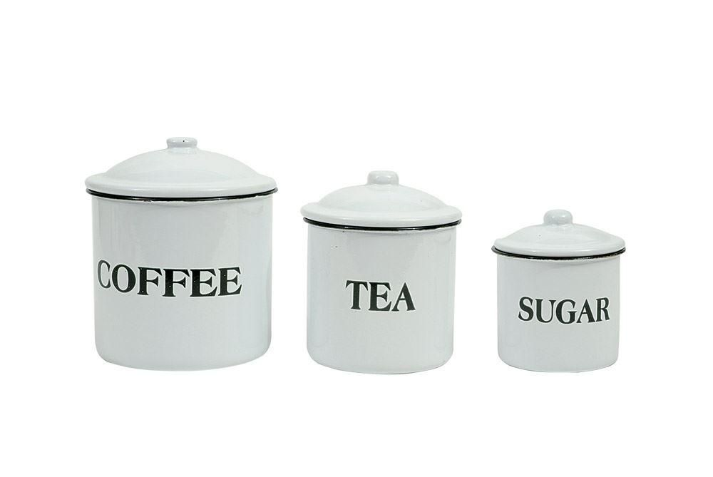 Coffee, Tea, Sugar Canisters (Set of 3) images
