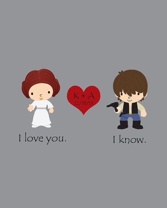 Star Wars Wedding Anniversary Gift Han Solo By StarWarsPrintShop