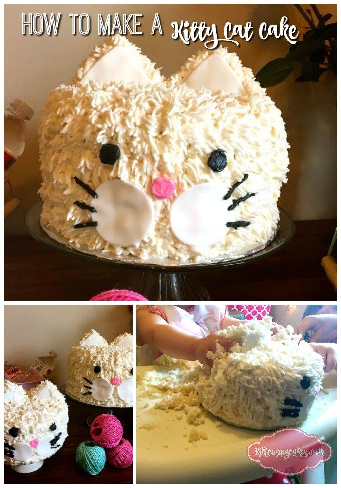 How to Make a Kitty Cat Cake Kitten Rice and Cake