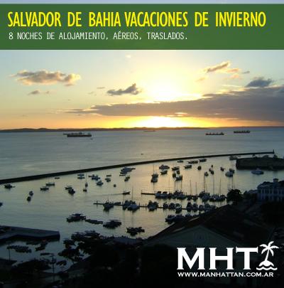 #Vacaciones de invierno en #Salvador de Bahía! 8 noches con alojamiento, aéreos y traslados.