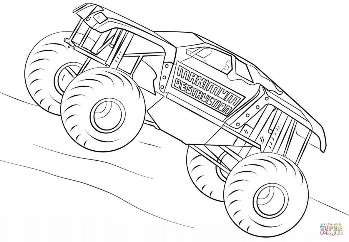 51 Iron Man Monster Truck Coloring Page