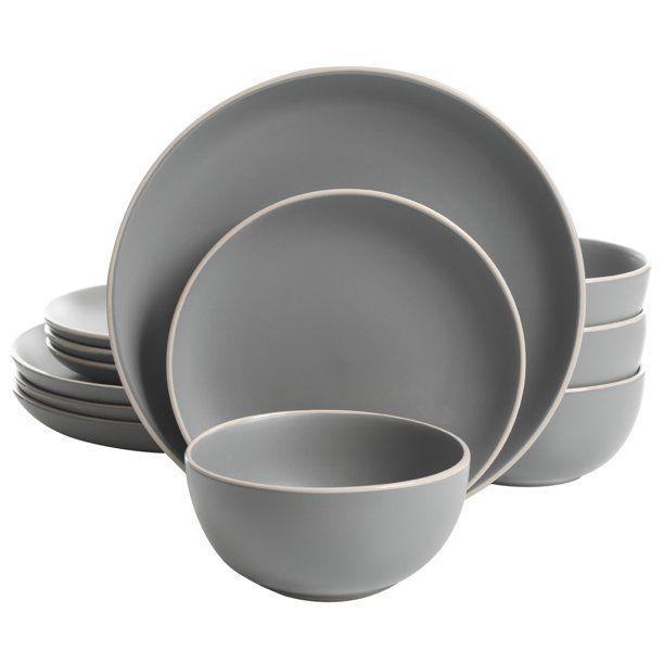 Better Homes & Gardens Zuri Matte 12-Piece Dinnerware Set - Walmart.com
