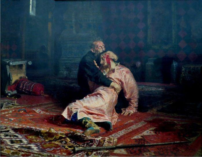 Iván el Terrible y su hijo, de Iliá