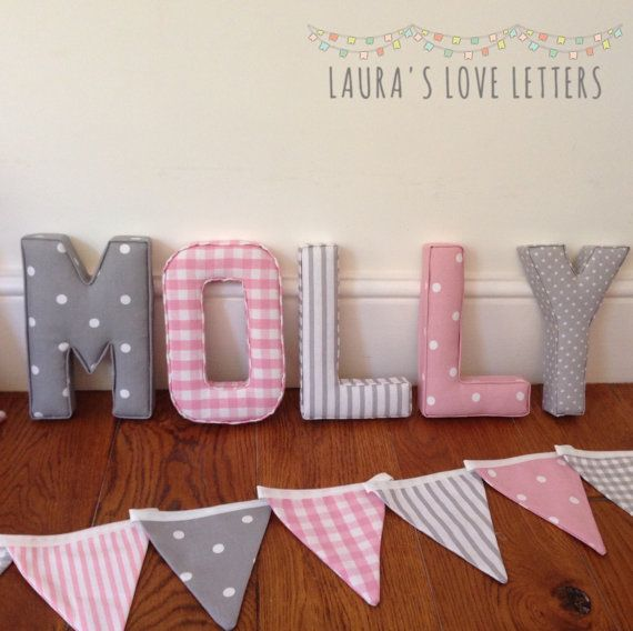 Letters 5 7 Name Fabric Padded