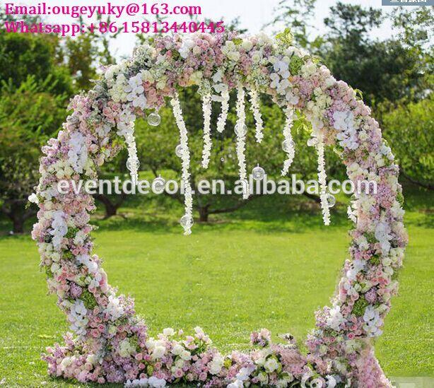 Wedding Arch Decorations For Sale: Round Flower Arch Stand Metal Wedding Arch For Weddings