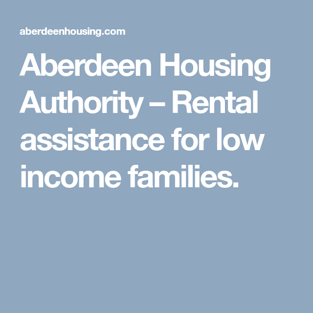 Low Income Apartments For Rent Fresno Ca: Aberdeen Housing Authority