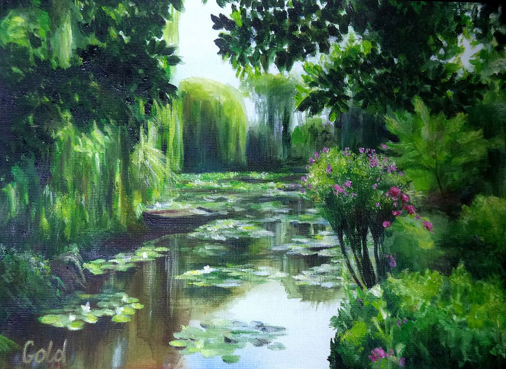 Claude garden at giverny france etsy claude