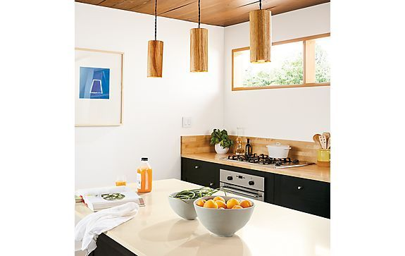 Grain Cylinder Pendants in Hickory - Modern Lighting - Room & Board