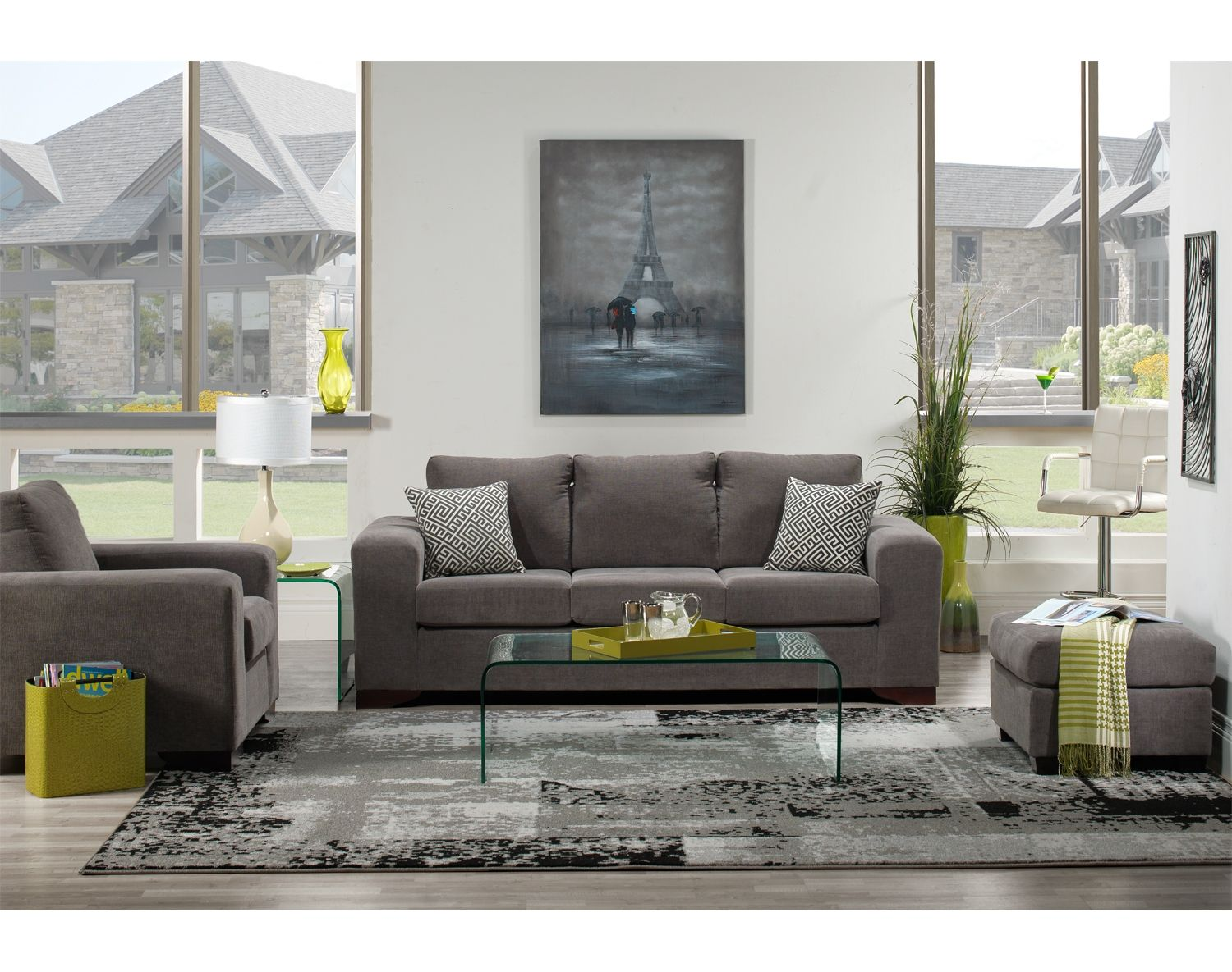 Living Room Furniture The Fava II Collection Sofa