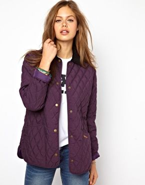 Image 1 of Barbour Eskdale Quilted Jacket | My Style | Pinterest ... : purple quilted jacket - Adamdwight.com