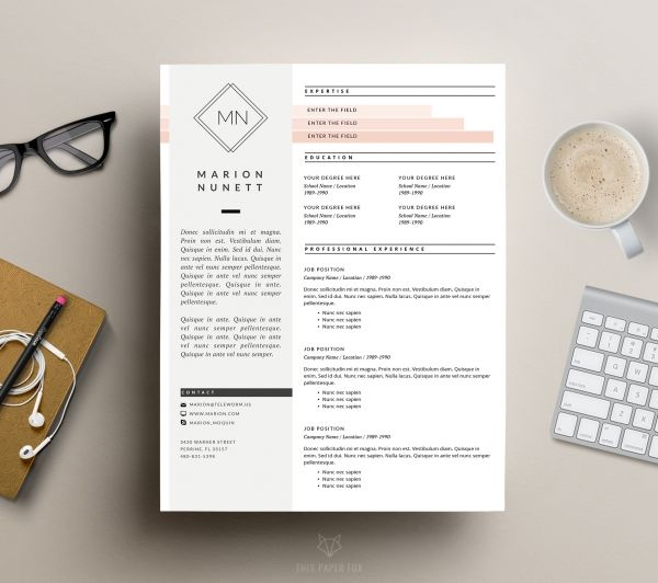 Creative CV Design and Cover Letter by This Paper Fox Luvly