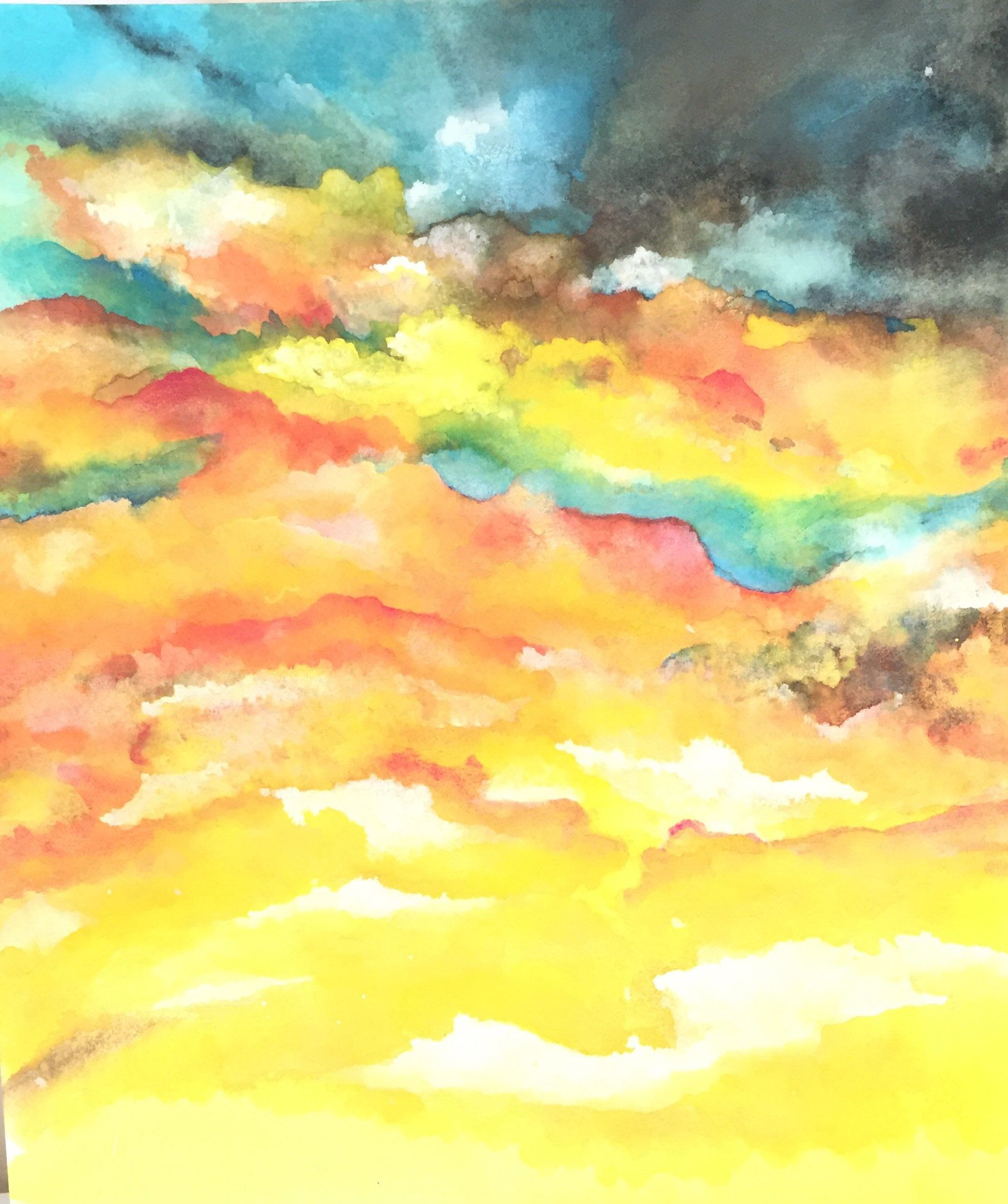 Free Spirit...Original Affordable Watercolor Abstract Painting ...