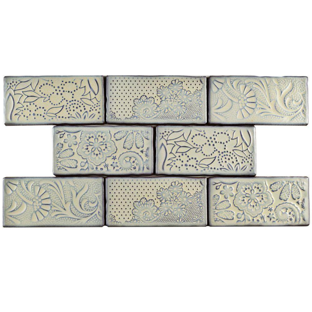 Merola Tile Antic Feelings Pergamon 3 in. x 6 in. Ceramic Wall Tile ...