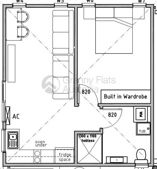 Granny Flat Floor Plans 2 Bedroom Google Search