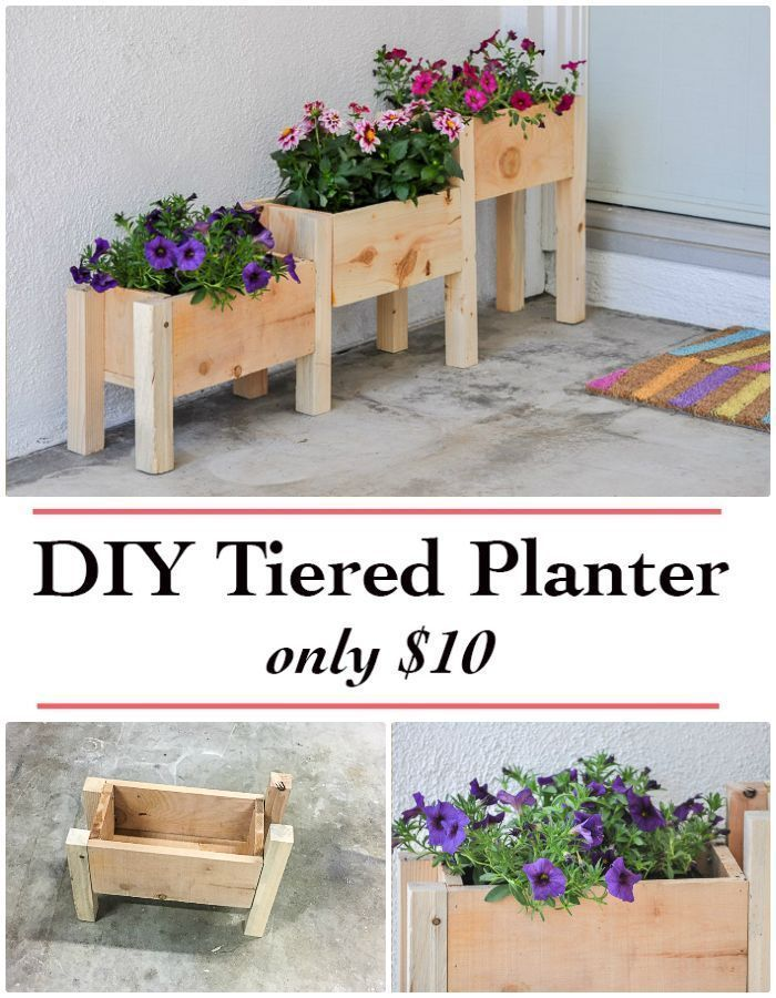 DIY Tiered Planter Box Plans And Video Tutorial Under 10