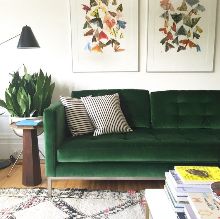 Forest Green Couch Green Sofa Living Room Living Room Green