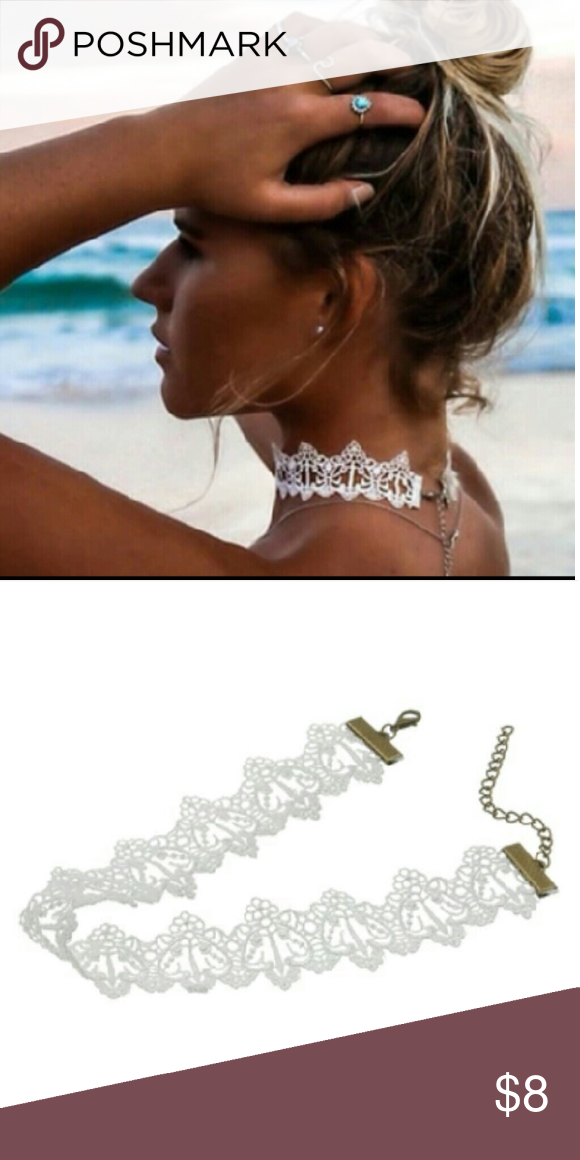 Brand New Boho White Lace Choker Length32+6cm(adjustable) Jewelry Necklaces