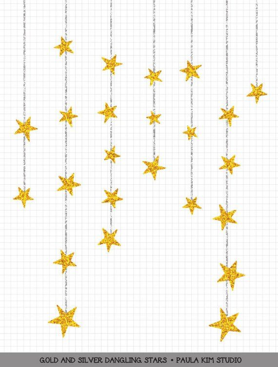 db1dbbcf88e Dangling Gold Star Clipart