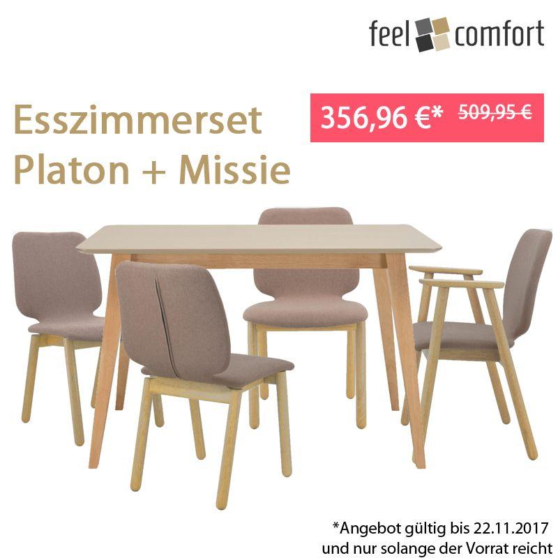 Günstige Esszimmer | Ab Mittwoch Uns Esszimmerset Platon Und Missie 1 Tisch 4 Stuhle