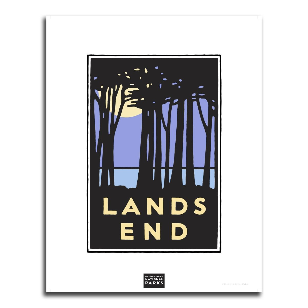 Unframed Poster Lands End Graphic wall art, Prints