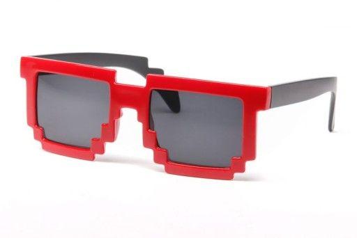 Okulary Pikselowe Pixelowe 8bit Retro Geek Czerwon 6973882170 Oficjalne Archiwum Allegro Sunglasses Glasses Oakley Sunglasses