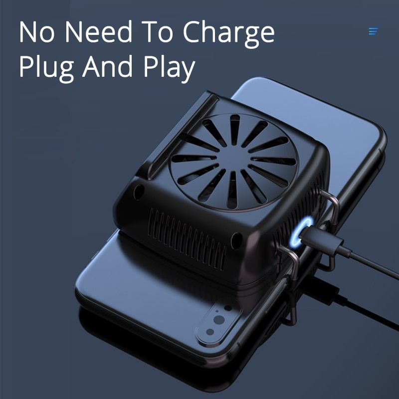 Mobile Phone Cooler Cooling Fan For Ios Iphone Android Huawei Sumsung Smartphone Pubg Game Holder Cooling Pad