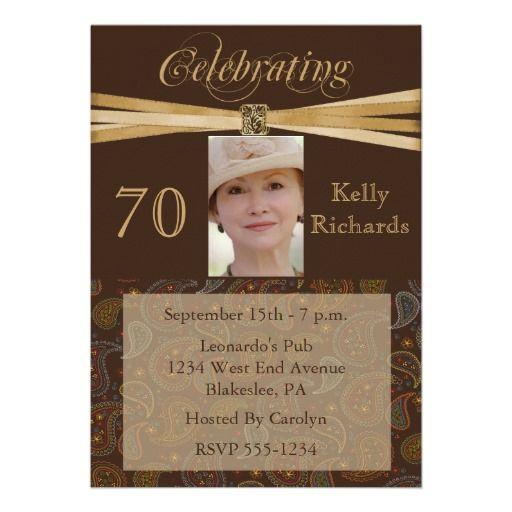 Elegant 70th birthday party photo invitations 70th birthday party elegant 70th birthday party photo invitations filmwisefo Gallery