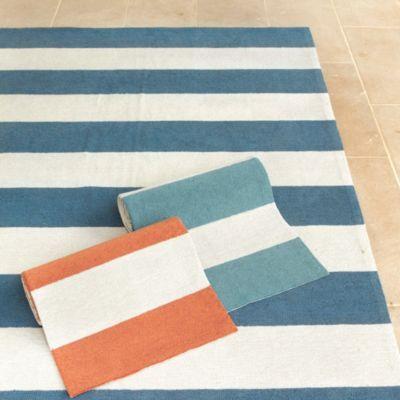 Suzanne Kasler Wide Stripe Indoor Outdoor Rug Ballard Designs 8