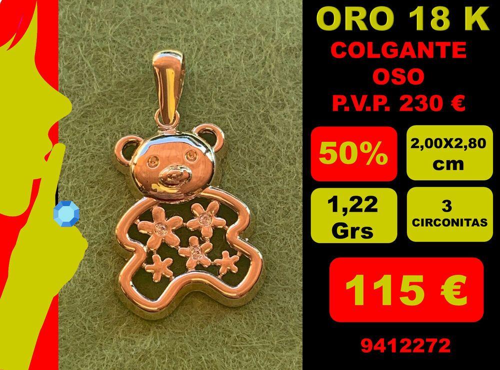 18K Colgante Chupete Oro 18 Kilates 100/%