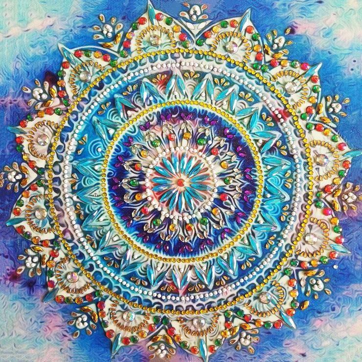 fcb172e96b NEW, Crystal Mandala Diamond Painting Kit. Absolutely Stunning in ...