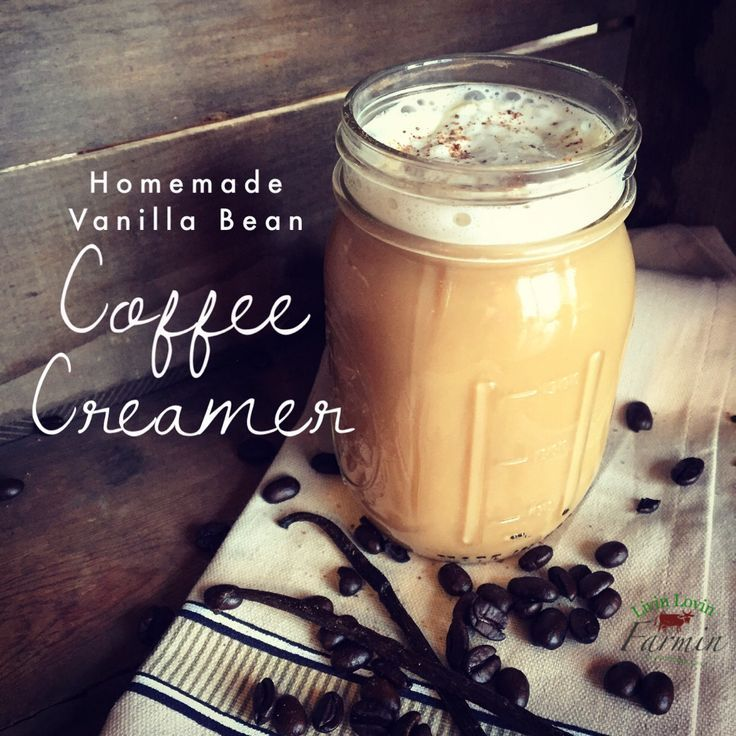Homemade vanilla bean coffee creamer recipe with images