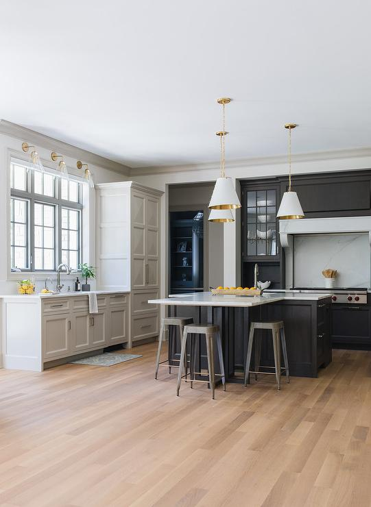 two tone kitchen with t shaped island transitional kitchen transitional kitchen white on t kitchen layout id=96908