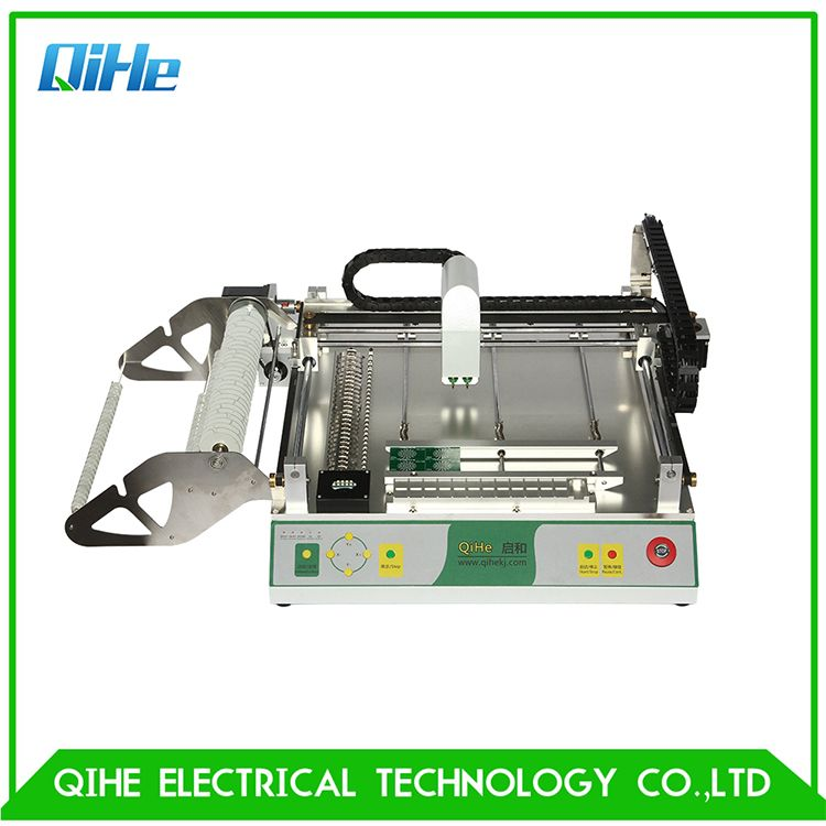Qihe Tvm802c 2 Mounter Head Highest Capacity Automatic Led High Speed Led Automatic Pick And Place Machine Smt Smd Pcb High Speed Assembly Line Soldering Irons