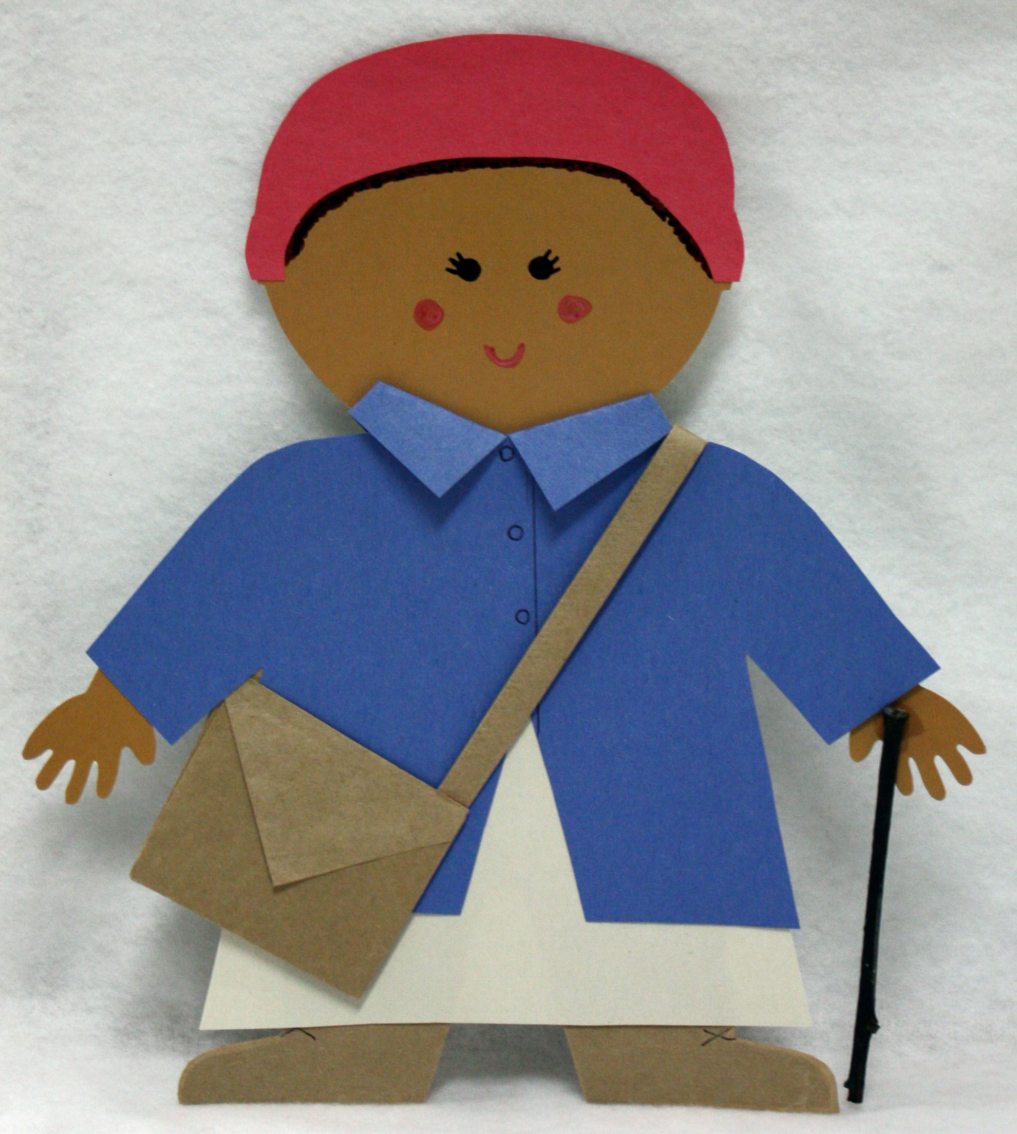 Harriett Tubman Made From Multicultural People 10 Jumbo Designer Cut Outs