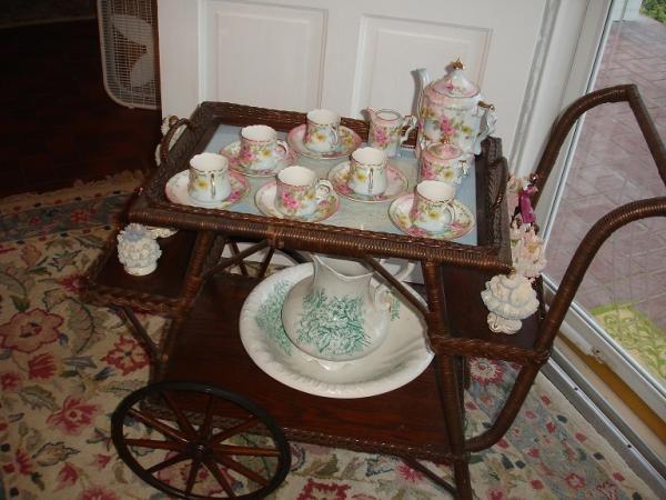 Victorian Tea Cart Details About Wheels Oak Rare Wonderful Antique
