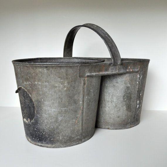 Pin By Debi Vidanovic On Rustic Memories Vintage Bucket Galvanized Metal Galvanized