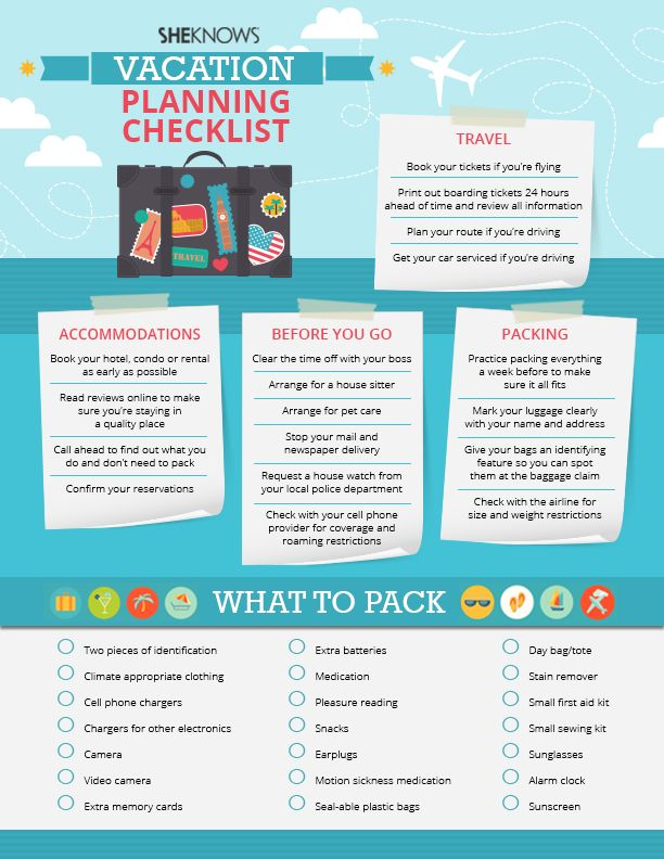 travel planner checklist - Google Search All about TraVeLLing - sample travel checklist