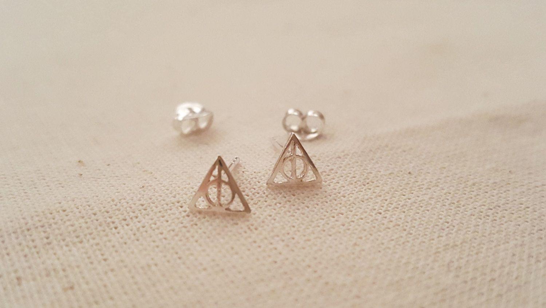 6 Mm Harry Potter Stud Earrings Deathly Hollows Symbol Stud