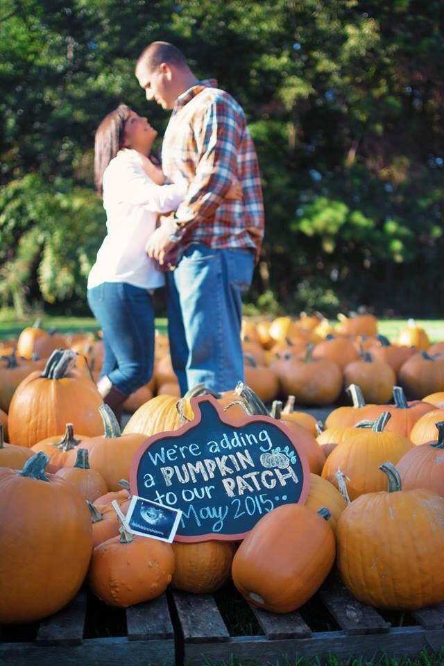 Fall pregnancy announcement then there were 3 – Fall Birth Announcements