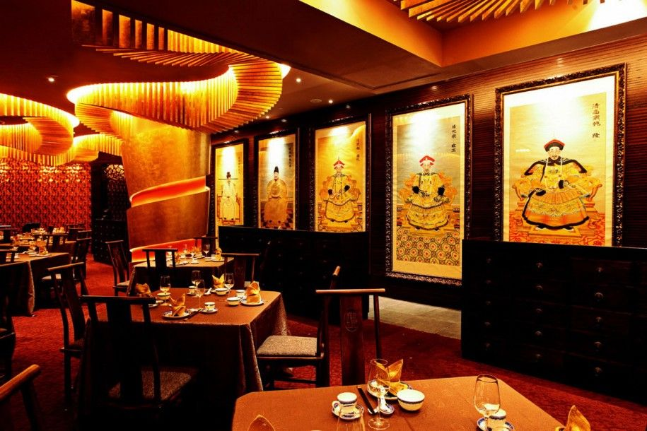 Luxurious asian restaurant for exotic and warmth feeling