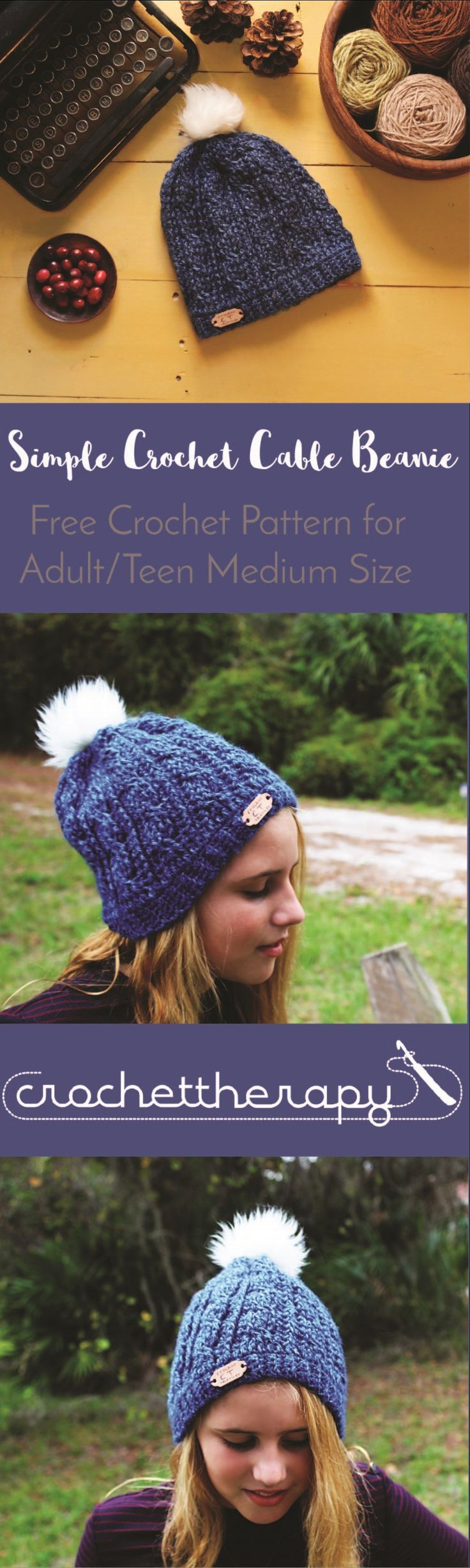 free crochet cable hat pattern | Crafts | Pinterest | Gorros, Gorro ...